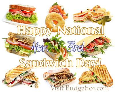 nov 3 national sandwich day