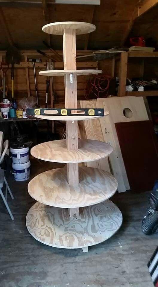 b101 xmas tree village stand homemade