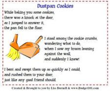 dust pan cookies