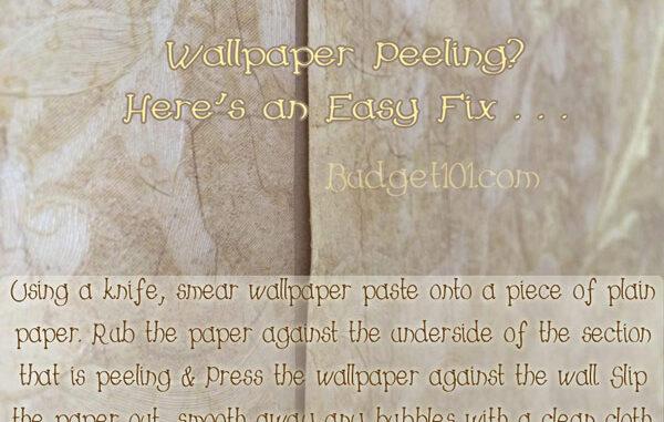 how to repair peeling wallpaper