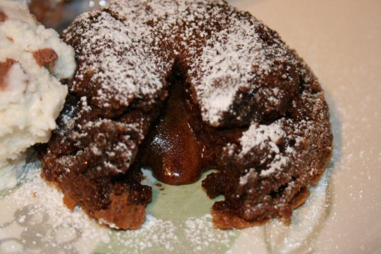 double chocolate lava cakes