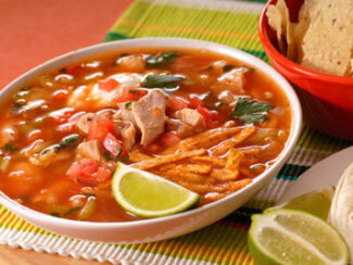 tortilla soup w black beans