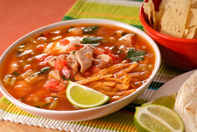 tortilla soup w black beans