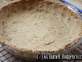 gluten free walnut oat pie crust