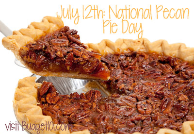 july 12th national pecan pie day