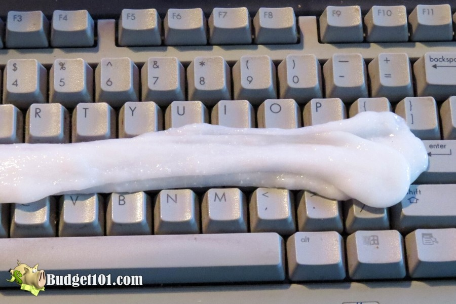 DIY Cleaning Slime for Keyboards