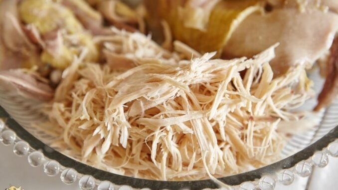 Shredded chicken Trick