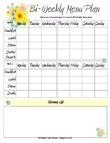 graphic about Menu Plan Printable titled Totally free Printable Menu Planners Dinner Coming up with Evening meal System