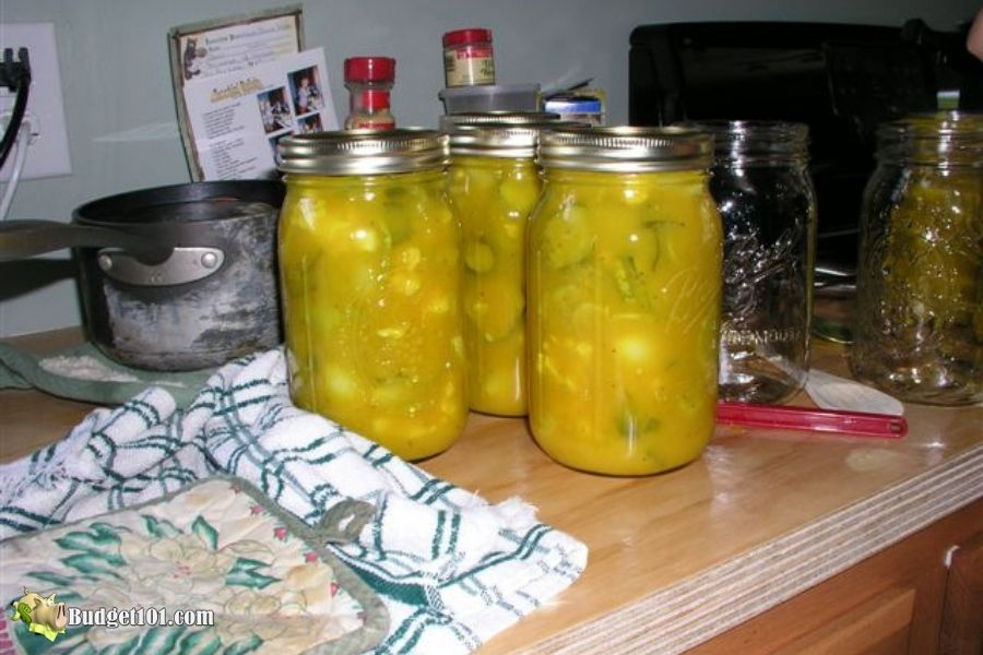 Homemade Mustard Pickles