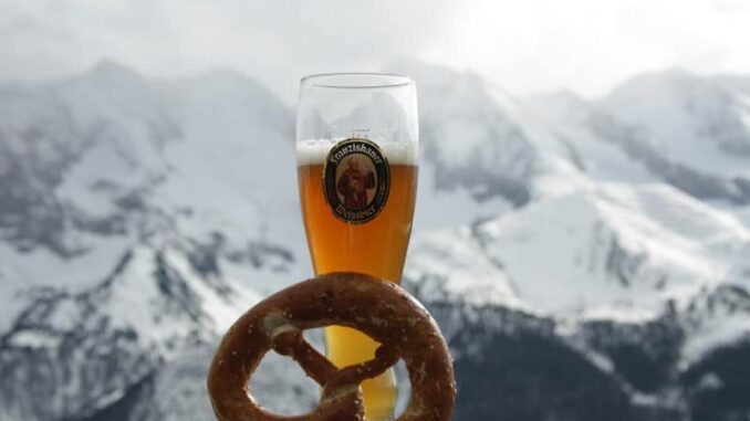 homemade beer bottle pretzel mix