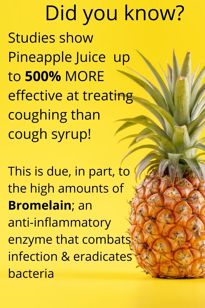 pineapple more effective than cough syrup 1