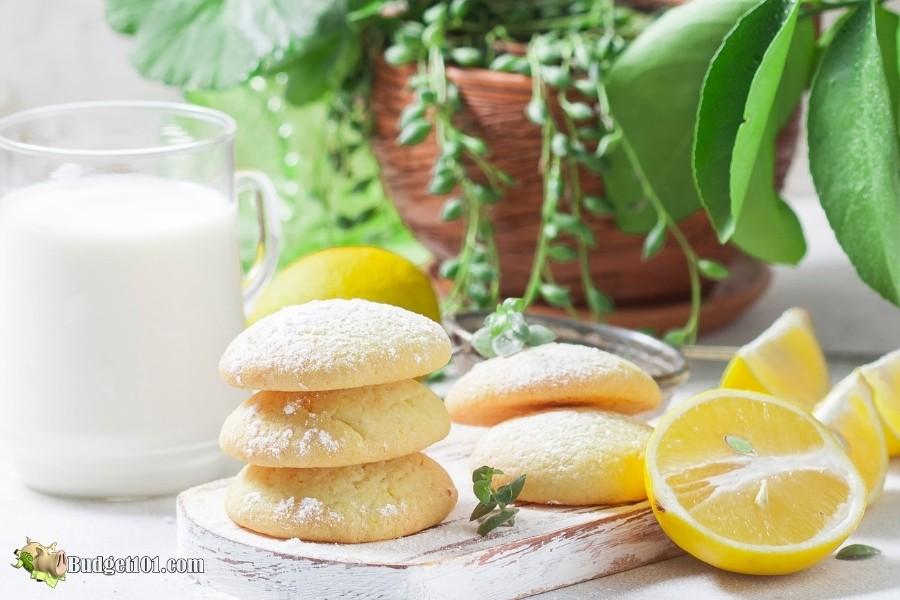 stack lemon cookies