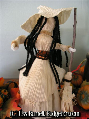 enchanting corn husk kitchen witch