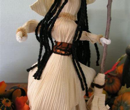 enchanting corn husk kitchen witch