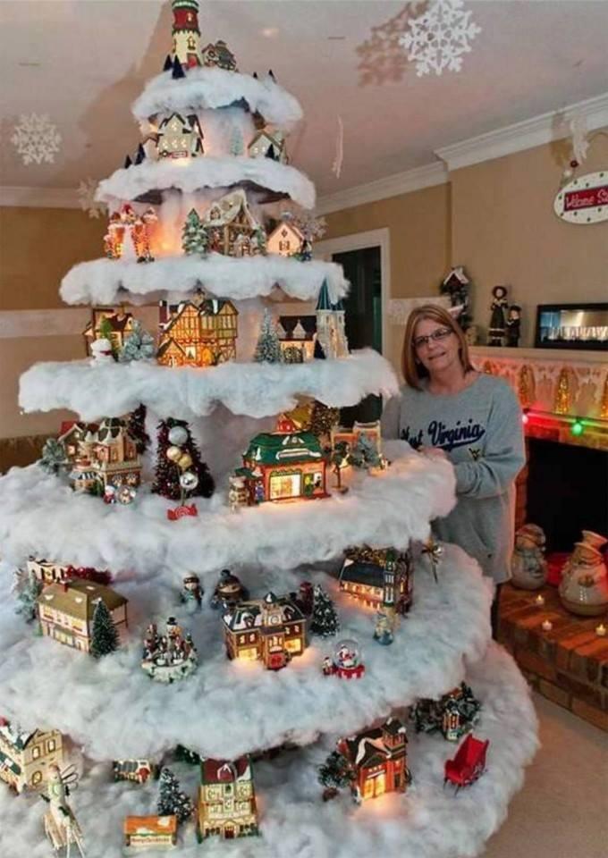 Village Christmas Tree Stand.Myo Christmas Village Tree