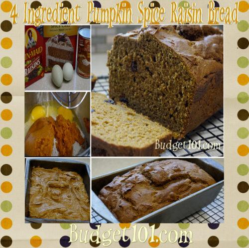 sweet spiced pumpkin raisin bread