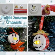 tealight snowman ornaments