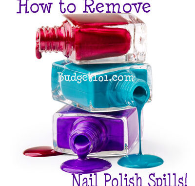 how to clean nail polish spills