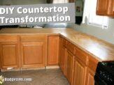 Countertop Transformation = Dirt Cheap Kitchen Makeover Under $500