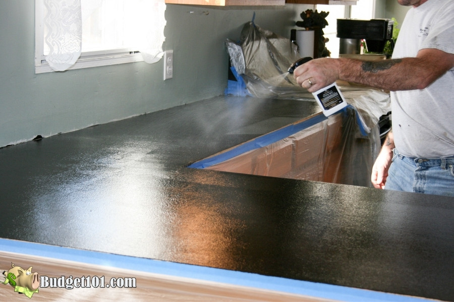 spray with adhesive