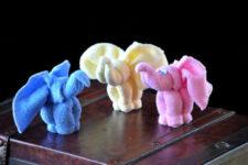 adorable towel elephant baby shower idea