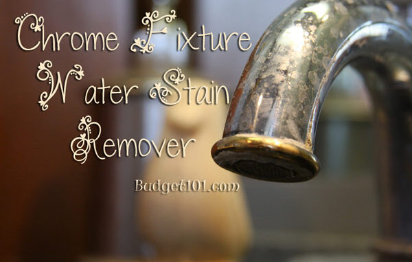 chrome fixture water stain remover