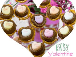 conversation heart valentines chocolates