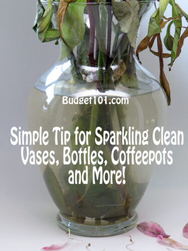 how to clean vases bottles easily