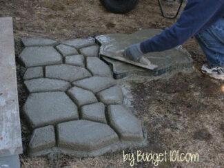 DIY Faux Stone Walkway