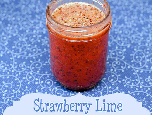 strawberry lime poppyseed vinaigrette
