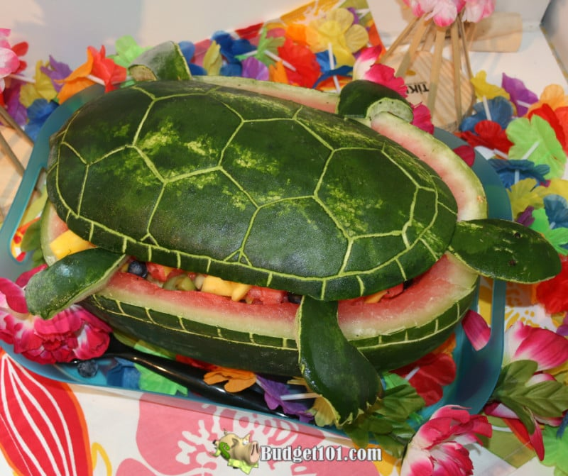 Watermelon Carvings Made Easy Frugal Edible Decor