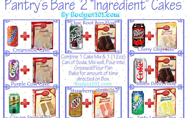 pantrys bare 2 ingredient cake recipes