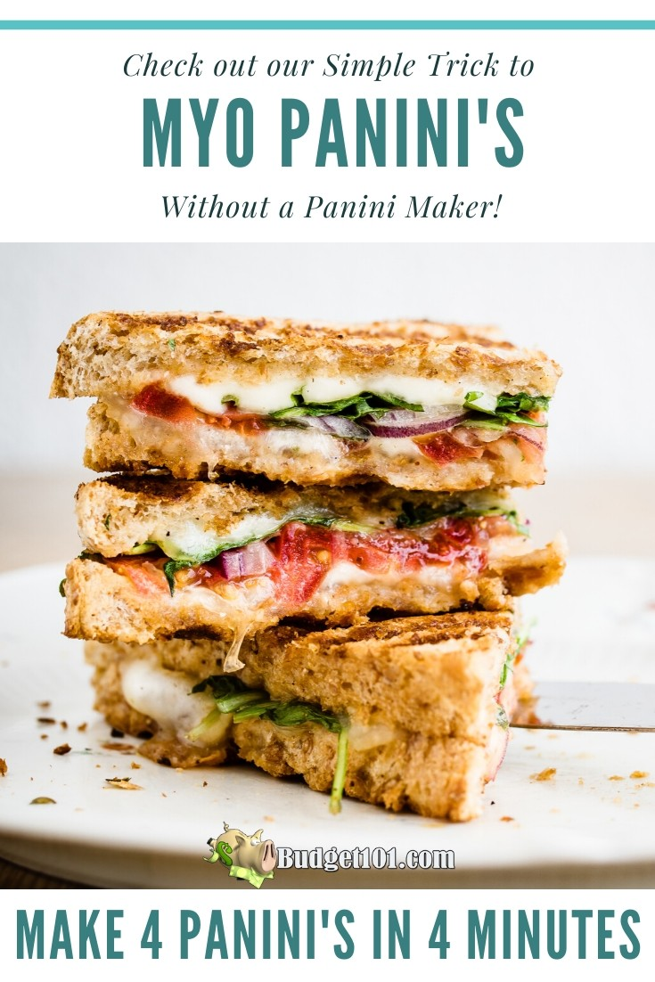 How to make 4 Panini's in 4 minutes without a Panini Maker by Budget101.com
