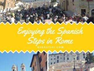 enjoying the spanish steps in rome