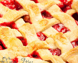 june 9th national strawberry rhubarb pie day