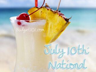 july 10th national pina colada day