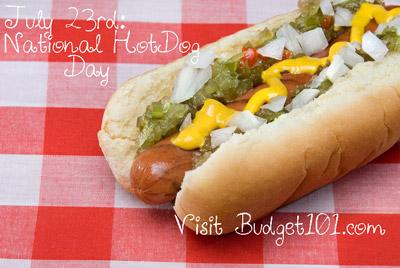 july 23 national hot dog day