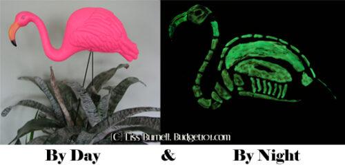 pink flamingo skeletons