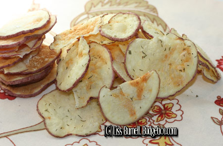 7 minute Homemade potato chips