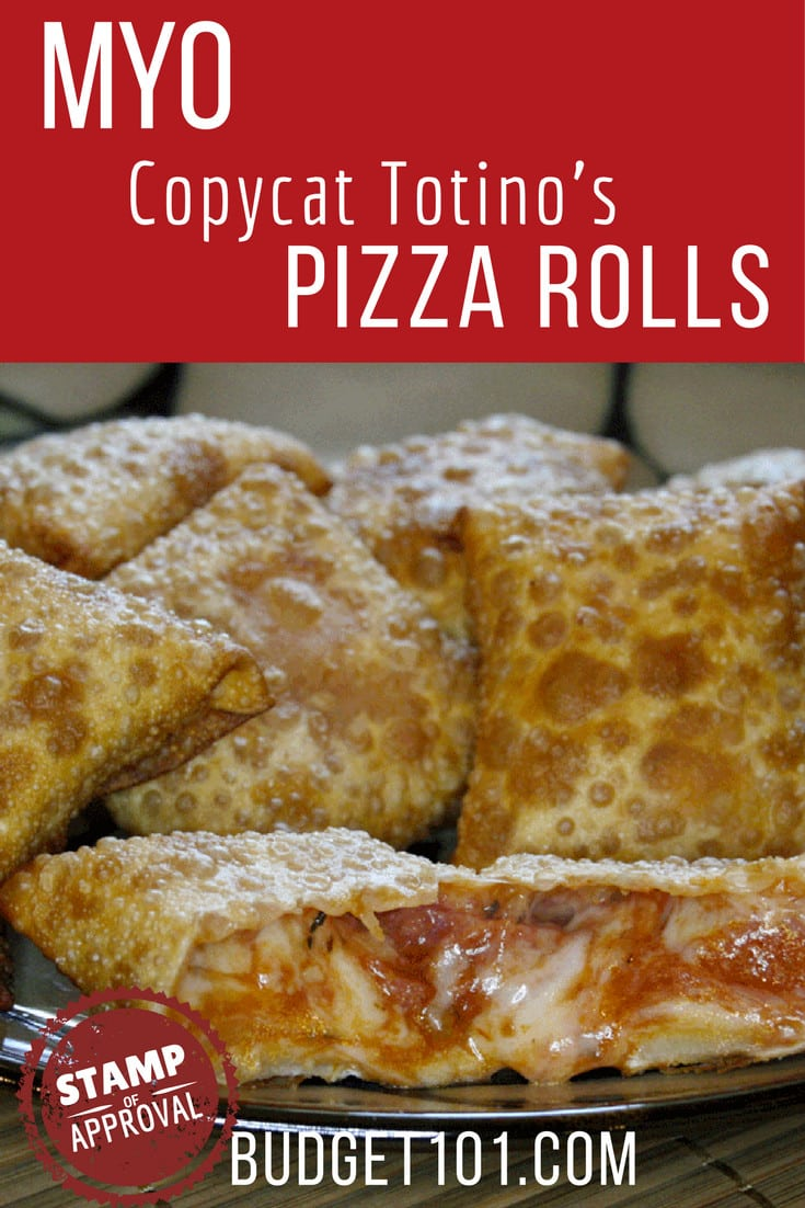 Recreate the flavor of Totino's Pizza Rolls at home with this simple MYO Pizza Bites Recipe from #Budget101 #Copycat #Clone #PizzaRolls #PizzaBites