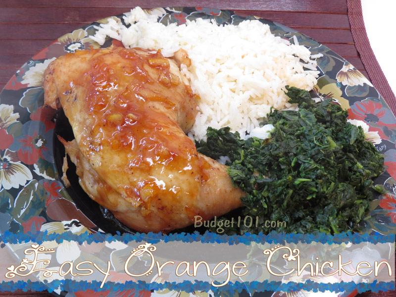 Easy 3 Ingredient Orange Chicken