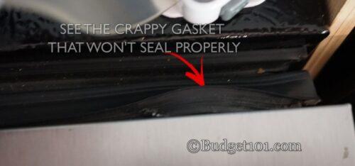 diy dirt cheap broken fridge freezer gasket remedy
