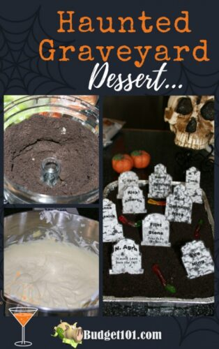 haunted graveyard dessert