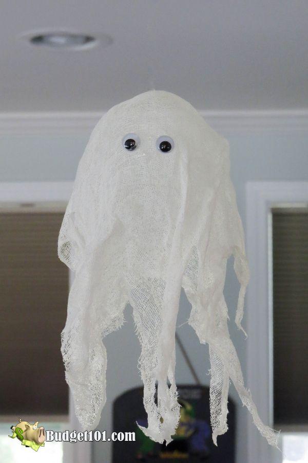 MYO Transparent Floating Ghosts to haunt your house for Halloween! #ghosts #MYO #DIY #Halloween #HappyHalloween #Budget101