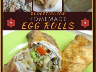 chicken or pork egg rolls