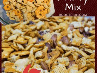 10 minute honey sriracha chex mix