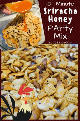 10 minute honey sriracha chex mix