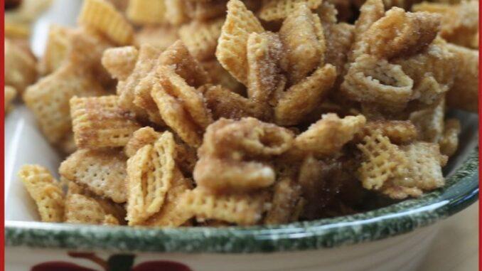 cinnamon caramel churro chex mix