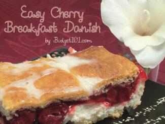 easy cherry breakfast danish