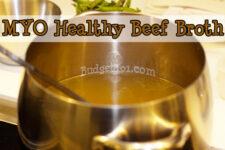 homemade beef broth